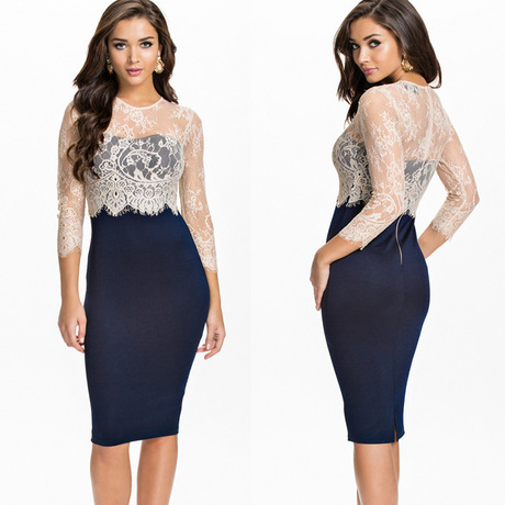 Party Dresses 2016 Spring Lace Long Sleeve Pencil Dress OL