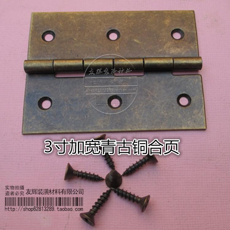 Die farbe grün Bronze 3 zentimeter verbreitert scharnier holzkiste antike schrank bücherregal Tür Möbel Kleinen scharnier - box ist ein Eisen - box