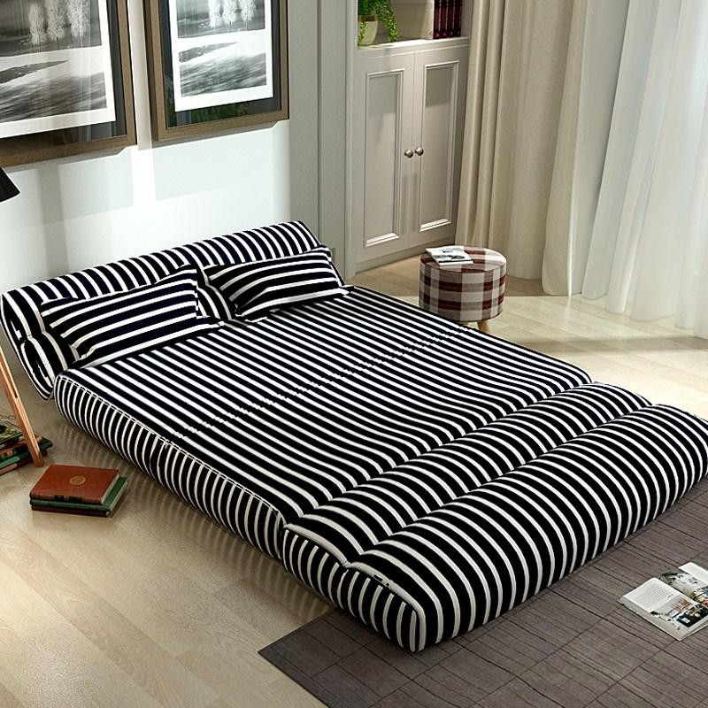 シングル2人掛けソファチェア創意畳リビング寝室布製ソファベッド折りたたみ洗い張り怠け者ソファ