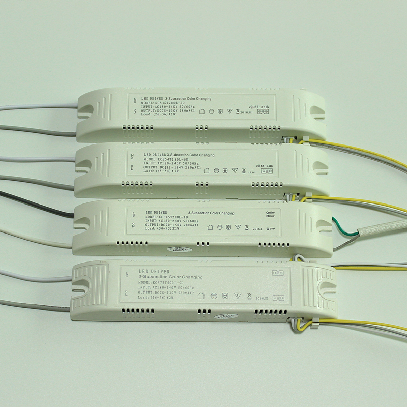 Led tricolor light driving power supply isolated transformer segmented segmented dual color LED ballast driver