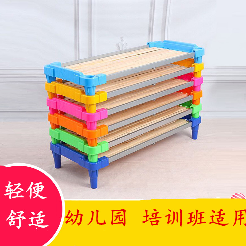 Dormitory children's bed folding chair, high and low stacked bed, office lunch bed, summer training class, simple students