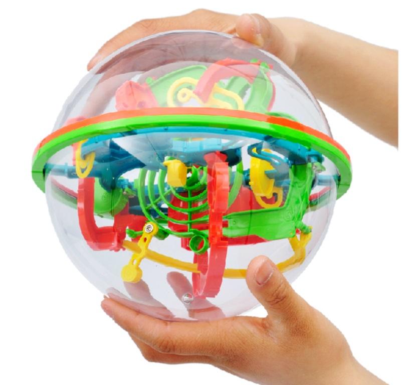 Stereo in Orbita a labirinto magico giocattoli Tuba 100 Bambini. - chiudere il cubo di Rubik Puzzle 3D - sfera.