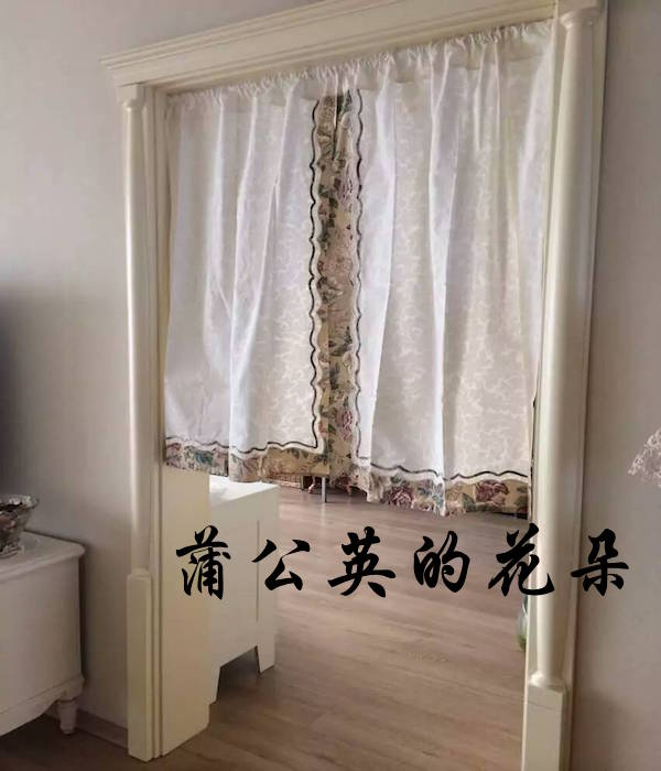 The export of Cotton Floral half curtain type multipurpose curtain curtain curtain / /