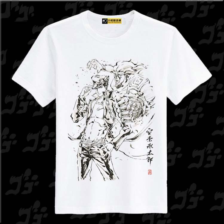 jojo e risc de benzi desenate cu mâneci scurte de bumbac din nou pe un tricou de vară