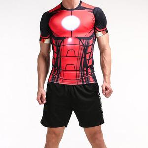 2017夏季男裝T恤衫歐美運動肌肉男款上衣修身鋼鐵俠款爆款男裝