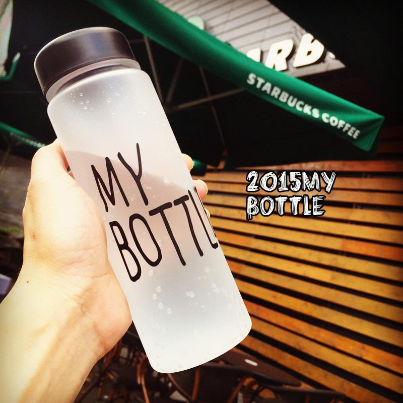 磨砂裸杯夏季水瓶水杯塑料學生杯子韓國創意便攜帶蓋防漏隨手杯