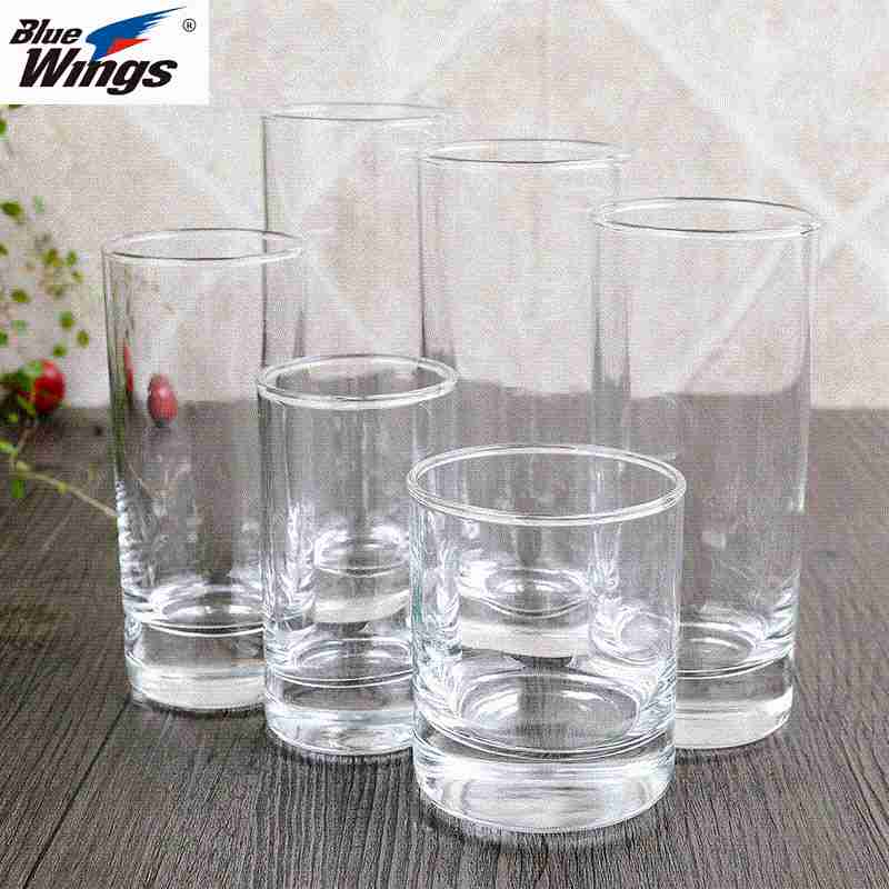 Colorless transparent glass crystal beer cup antiskid glass water cup drink cup heat resistant cup lead-free milk cup