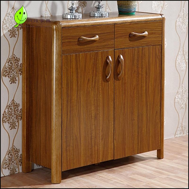 木造下駄箱の中国現代シンプルロッカー玄関櫃くるみ木色ロッカー玄関ケース収納棚