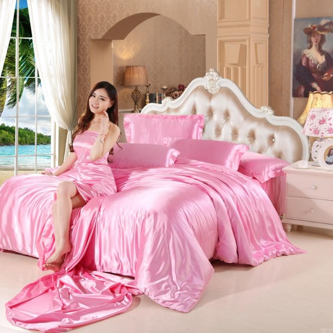 Shen Tong Textile silk four piece sheet pillowcase *2