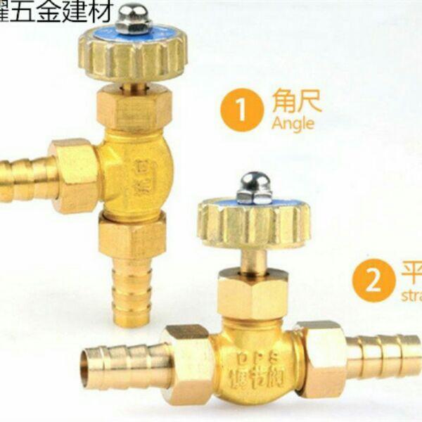 銅平行直角調節弁空気圧継手流量制御スロットルガスバルブ針型バルブ*はち* 10 mm