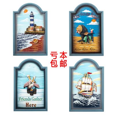 立体3D树脂浮雕画有框挂画地中海风格装饰画客厅卧室墙画欧式壁画