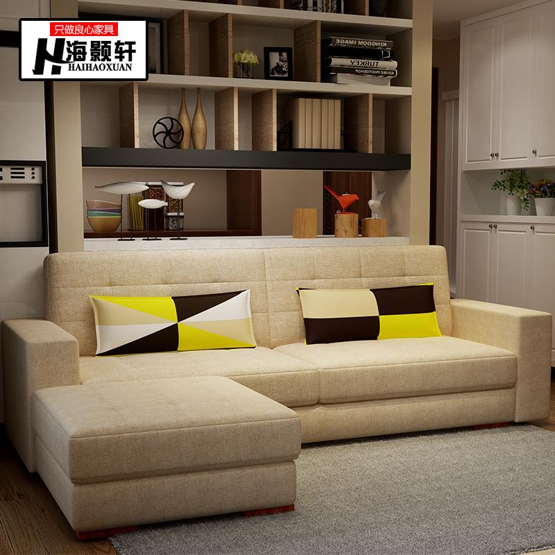 北欧現代ファッションの小型多機能材のソファー折りたたみベッド収納洗い張り布