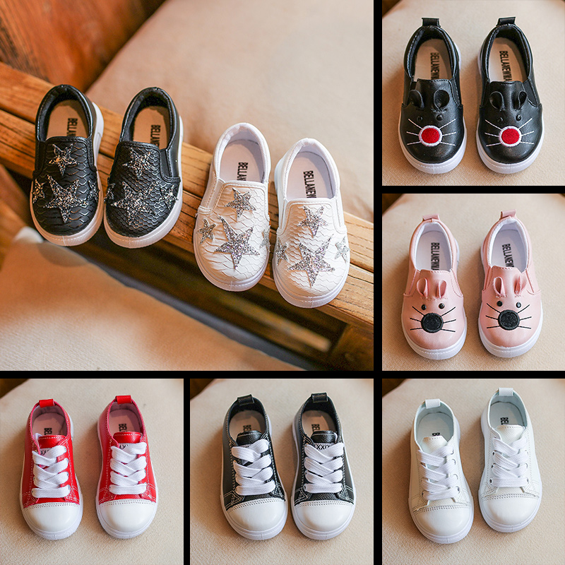 春秋儿童帆布鞋韩版女童男童单鞋1-3岁休闲鞋低帮套脚鞋4-6岁童鞋