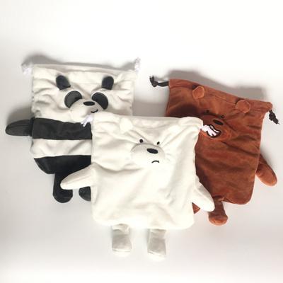 We Bare Bear Items three bears cute plush pockets coin purse large capacity