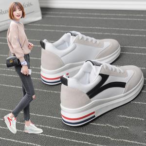 18女鞋春季2018小白鞋韩版百搭大东休闲运动学生厚底板鞋