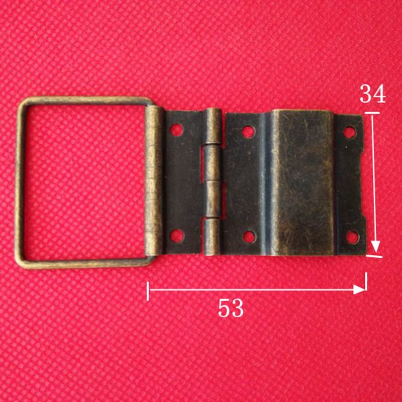Luggage accessories, gift box fittings, luggage hinge, antique 34mm support hinge (bronze color)