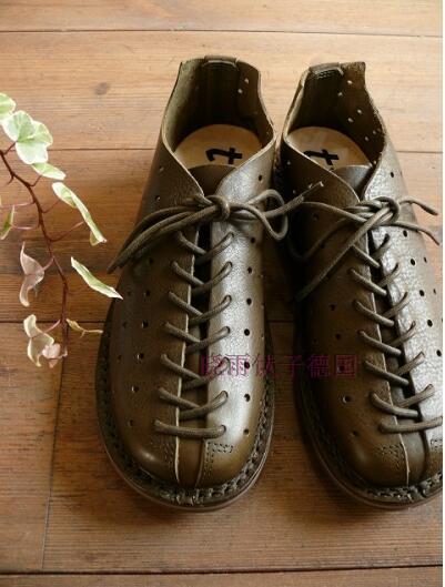 德国trippen 手工制作 经常被模仿 透气 镂空系带男女同款单鞋