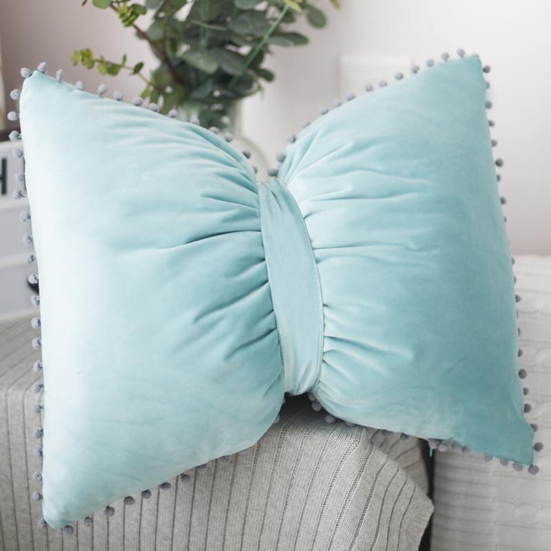 Сплошной цвет прекрасная бабочка подушка ins мяч ветер северных IKEA кровати диван расходились съемный