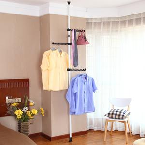 衣柜 简易布艺钢架收纳储物柜现代简约挂衣架衣帽间 顶天立地衣架