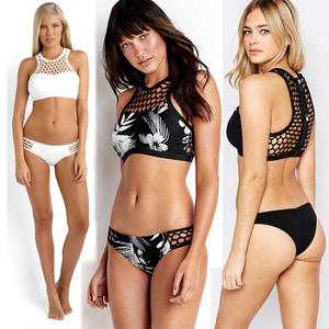 8906#歐美外貿新款女裝亞馬遜EBAY比基尼bikini分體泳衣網格鏤空