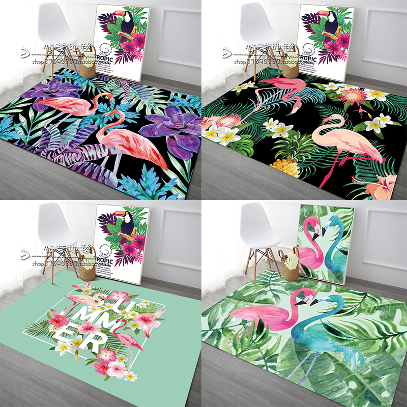 The Flamingo carpet in the living room home bedroom bedside table mats tatami sofa cushion custom master study