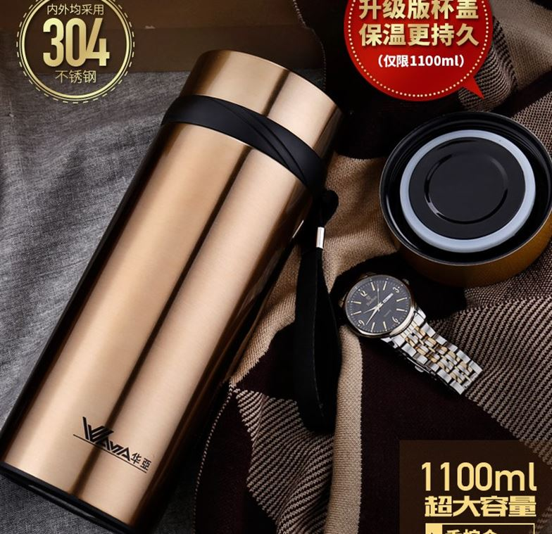 Vacuum thermos cup, stainless steel 900/1000, large capacity traveling kettle, thermos bottle, 580700ml cup, men and women
