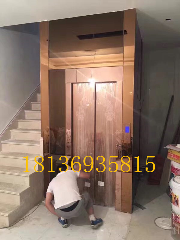 Professional customized small household 123 floor compound room elevator indoor and outdoor barrier free elevator sightseeing