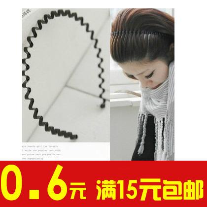 корейский простой шпилька металлических волна обруч мужчин и женщин ванну лицо волосы обруч голову бант давление тенденции украшения