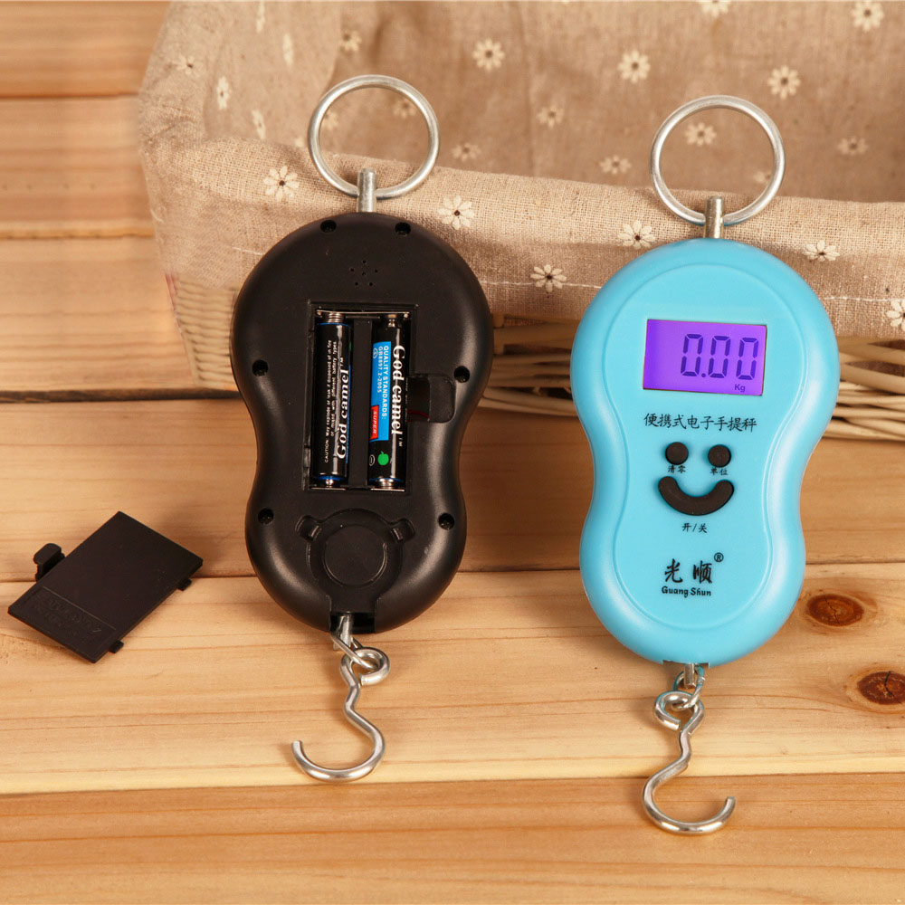 Mini electronic weighing said portable electronic scale 50kg portable express said the spring balance said portable hoist