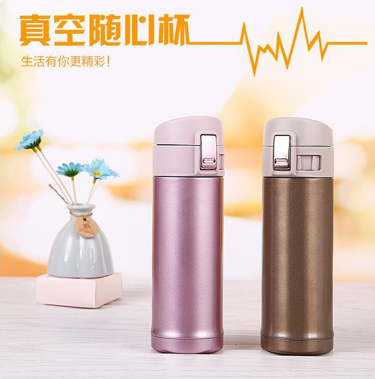 304 stainless steel vacuum cup for men and women, car bounce cup, portable cup, sports kettle, gift cup