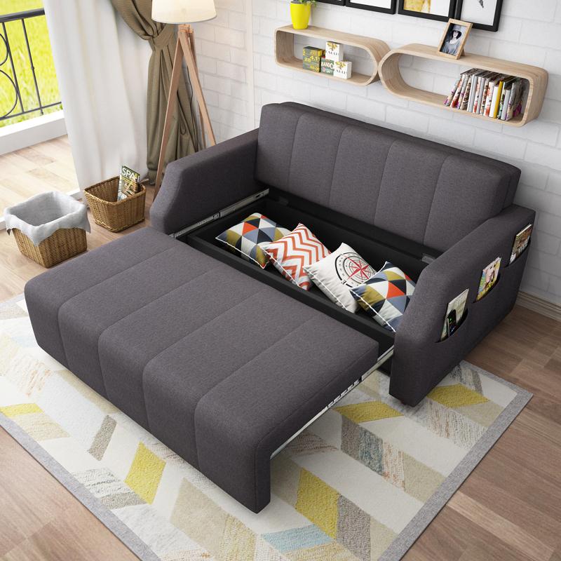 ラテックスソファベッド折りたたみリビングペア併用1 . 8収納多機能の小型に1 . 5メートル洗い張り