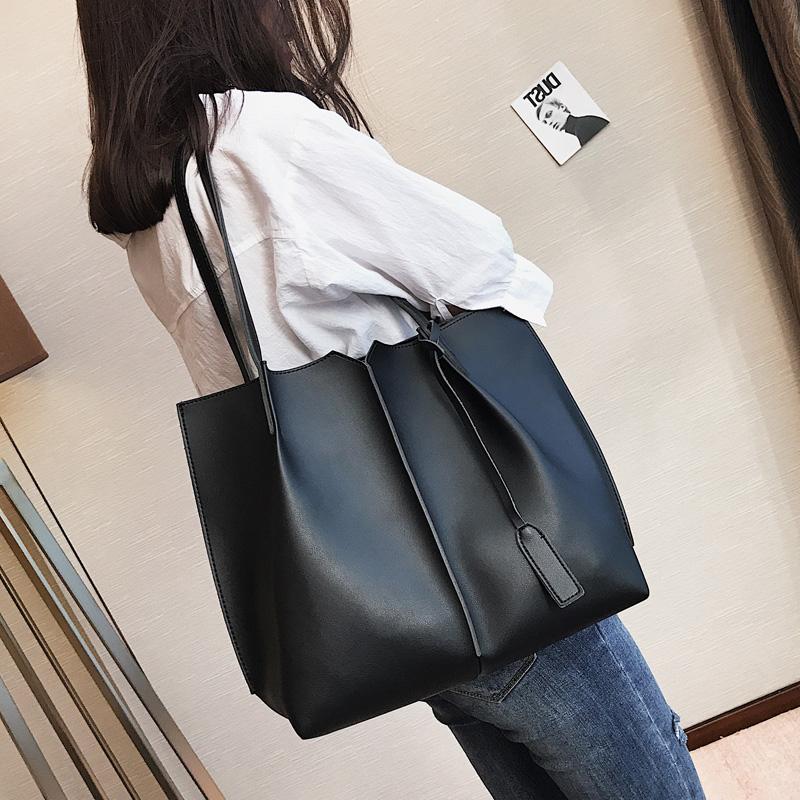 女包包2017新款时尚单肩包欧美简约大容量子母托特包休闲手提大包