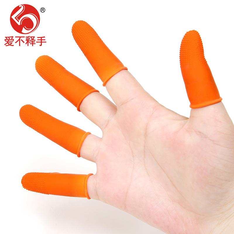 Slip de látex de BORRACHA anti - derrapante para engrossar o número de notas de dinheiro de proteção do Dedo: Dedo de Luva Da Pimenta