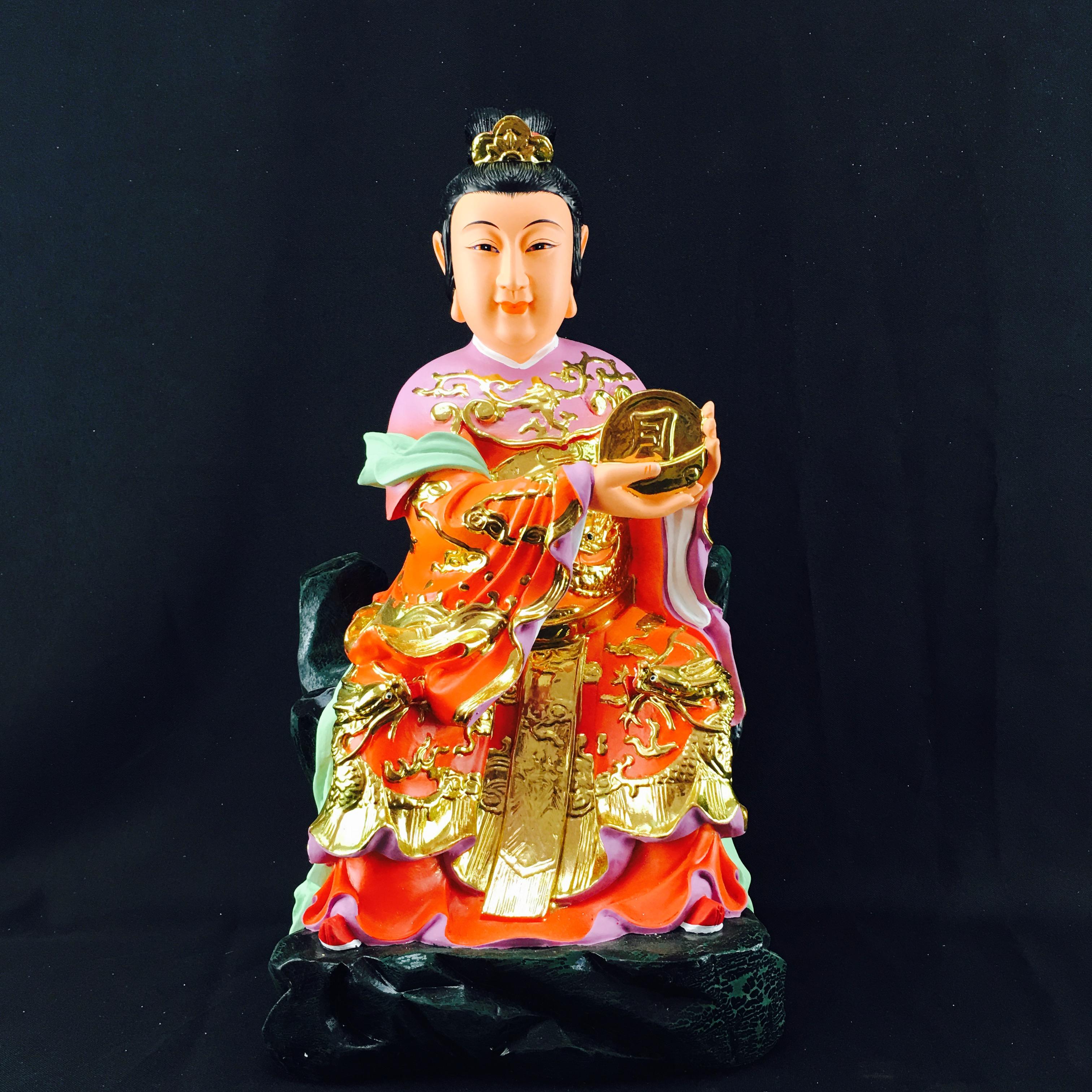 12寸樹脂日月菩薩月菩薩佛像家居風水化煞顯靈神像佛堂工藝品擺件
