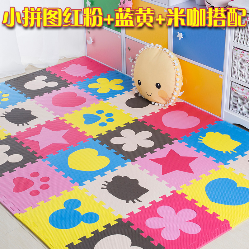 Foam mat bedroom floor mat large children crawling mosaic puzzle household tatami thickening