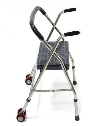 paketet efter rostfritt stål med hjul monterade walker walker walker GI-47 vuxna bistå äldre vagnar