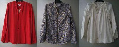 美国品牌 妹家 女装涤纶人造丝长袖衬衫 4号箱原单