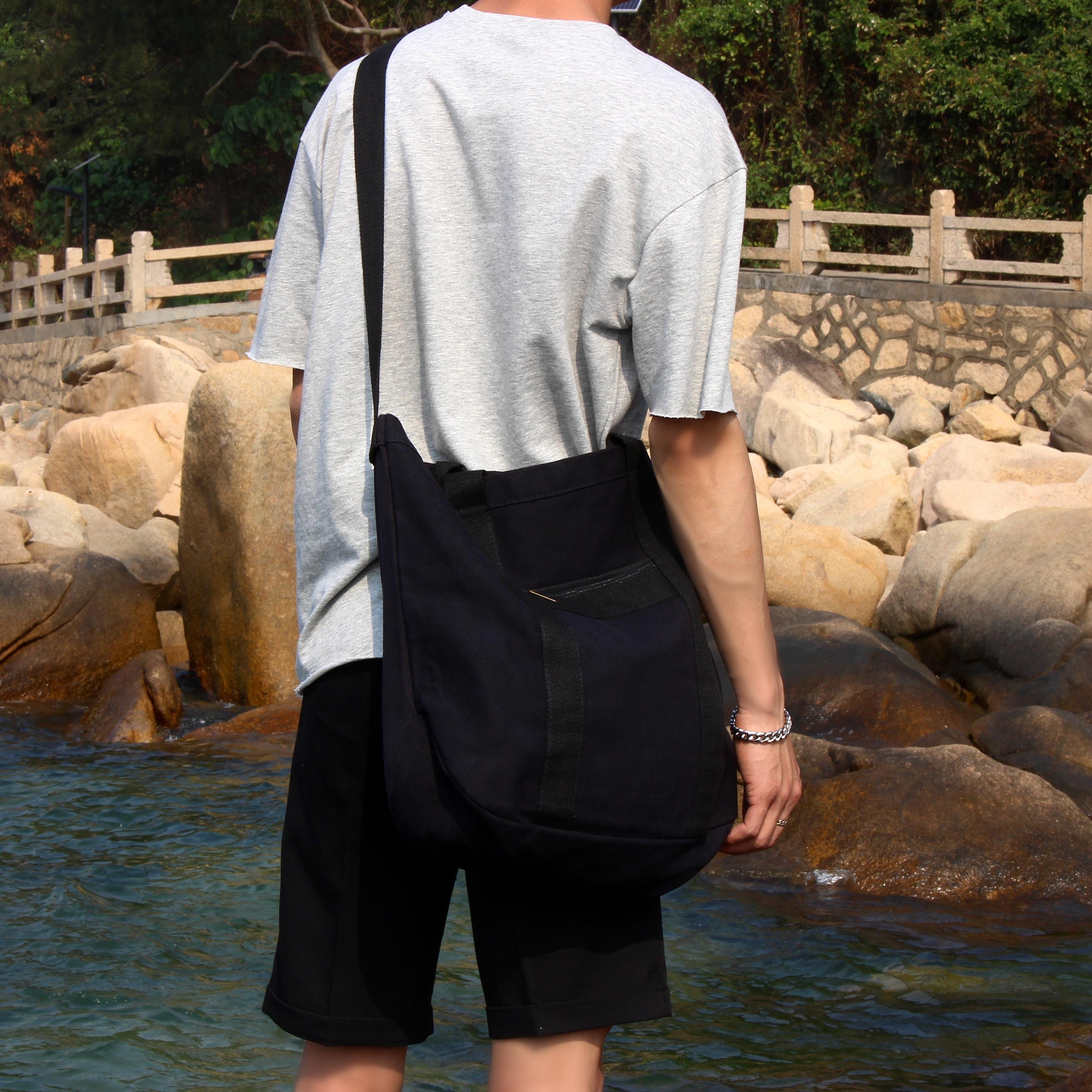 SIMPLE韩国2017新款简约学生帆布包男女韩版休闲单肩斜挎包手提包