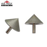 Glass tile milling chamfering device for electroplating diamond grinding chamfering device CBN bevel grinder