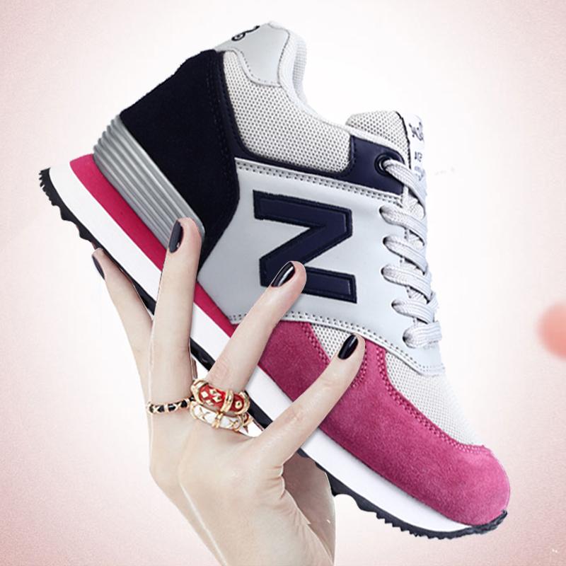 内增高女鞋2017秋冬季新款百搭韩版运动鞋子加绒保暖休闲棉鞋8cm