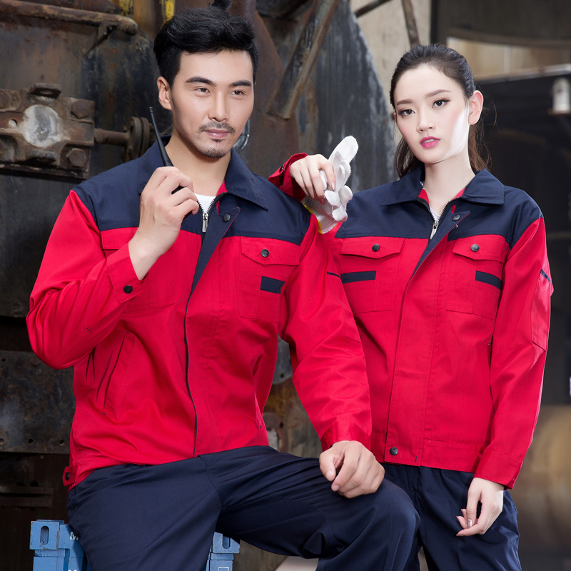 Long sleeve overalls, men's engineering suits, labor protection clothes, spring and winter frock, overalls, men's uniforms, factory clothes, auto repair
