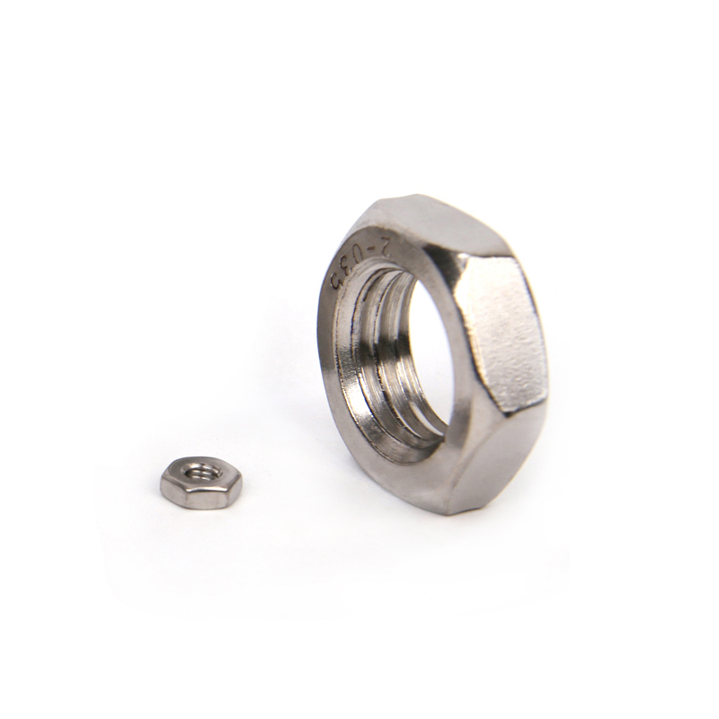 304 stainless steel, 1.25 teeth, six angle fine tooth nut, nut M10M11M12M14M16M18x1.25mm