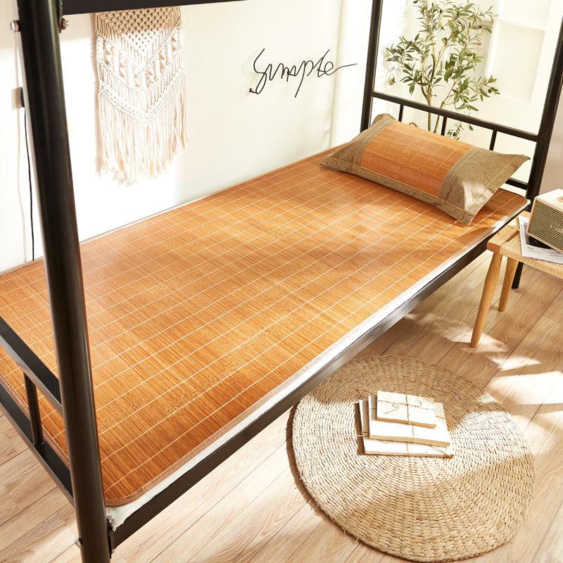 凉席竹席学生宿舍0.9m单人床1米1.2寝室0.8m0.6夏季草席子可折叠