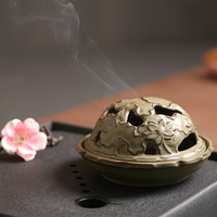 Retro disc tower incense censer incense on antique sandalwood incense incense incense disc inserted trumpet lying sandalwood censer