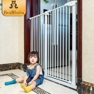 楼梯口围栏安全门栏婴儿童宝宝围栏厨房防护栏防摔免打孔1米加高
