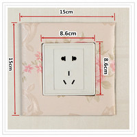 Simple creative home furnishing, personalized products, cloth art, household wall decoration switch, paste socket, paste switch paste