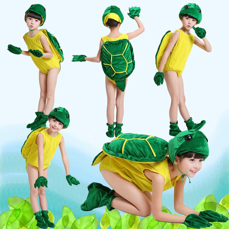 綠色90cm兒童成人動物表演服演出服裝 毛絨小烏龜 小蝌蚪找媽媽烏龜表演服