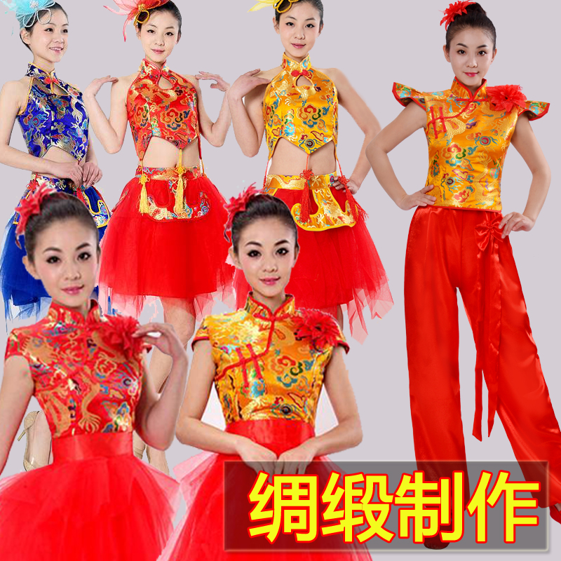 打鼓服演出服女新款中国风古典舞民族舞蹈服装威风锣鼓水鼓表演服