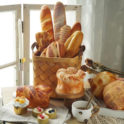 烘培店橱窗摆设仿真面包欧包法棍模型样板房厨房软装美食摄影道具
