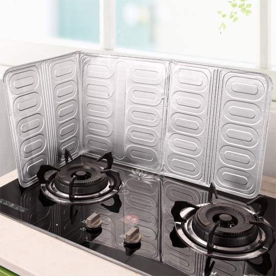 Gas stove, aluminium foil, oil baffle, heat insulation board, aluminum foil heat insulation baffle, fireproof board, cooking oil separating board, home